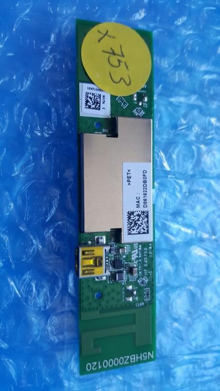 PANASONIC - N5HBZ0000120, DNUA-P75B, NKR-P75B, 4441A-P75B, CCAF14LP1890T9,TX-50CX680B - WIFI PCB