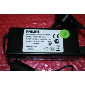 PHILIPS - AC ADAPTER - AS650-190-AB340, AS650190AB340, 100-240V, 50/60Hz, 1.6A, 19.0V, 3.4A
